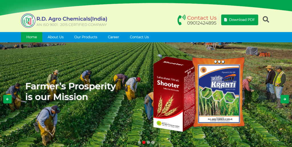 RD Agro Chemicals India Webicules Technology Projects