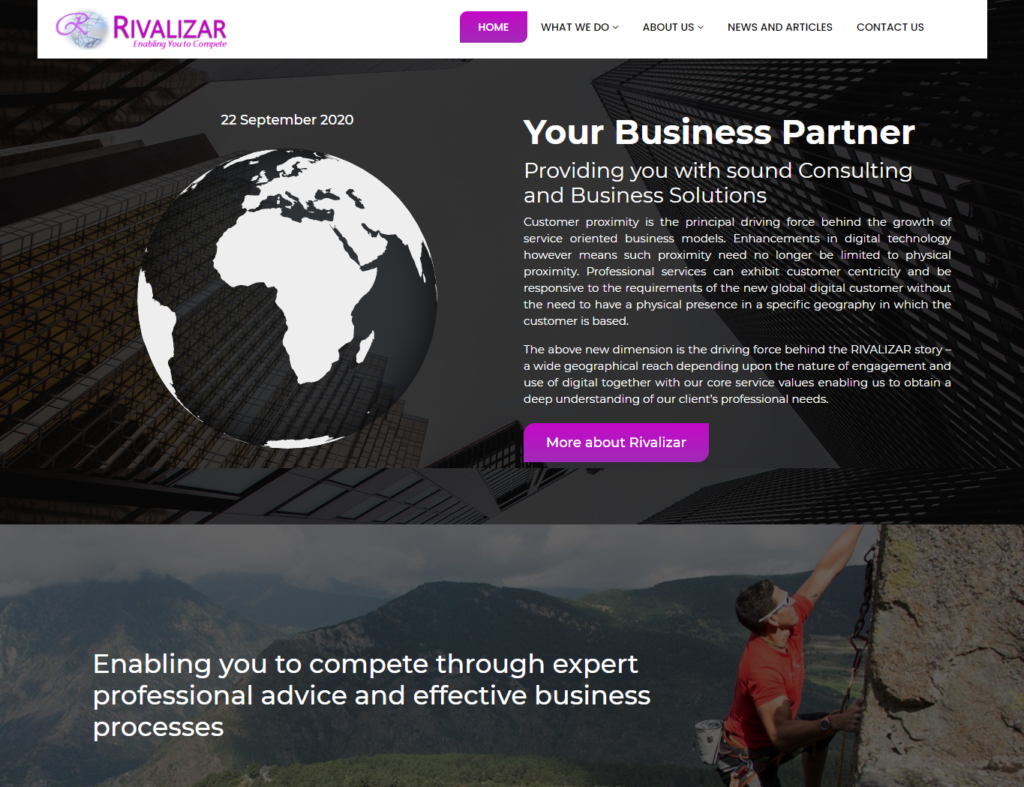 Rivalizar International Website Design Webicules Technology