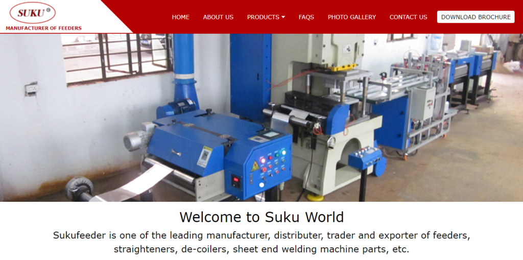 Sukufeeder feeders straighteners de-coilers machines website Webicules